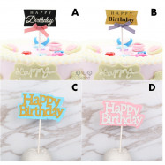 image of 【READY STOCK】DIY Happy Birthday / Baby Shower / 18th Cake Topper / Cake's Stand