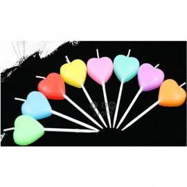 image of 【READY STOCK】Love/Heart Shape Birthday/Wedding Cake Candle