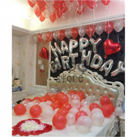 image of 【READY STOCK】Adult Birthday Party Balloon Set ( Red )