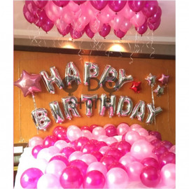 image of 【READY STOCK】Adult Birthday Party Balloon Set ( Pink and Rose Pink )