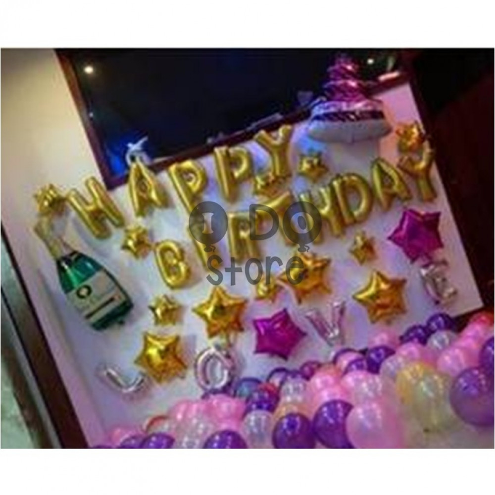 【READY STOCK】Wine and Cake Adult Birthday Party Balloon Set