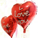 【READY STOCK】18inch printed I LOVE YOU Red Love/Heart Shape Foil Balloon