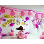 image of 【READY STOCK】Will You Marry Me Propose Balloon Decoration Set
