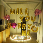 【READY STOCK】Will You Marry Me Propose Balloon Decoration Set