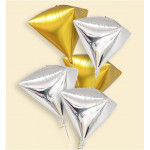 【READY STOCK】4D 24inch Diamond Shape Pearl Foil Balloon