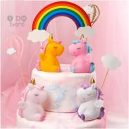 image of 【READY STOCK】Cute/ Soft Unicorn Birthday Cake Display