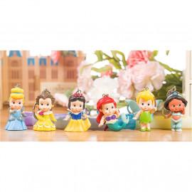 image of 【READY STOCK】Cute / Fat / Baby Disney Princess Characters Cartoon Keychain Set