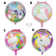 "image of 【READY STOCK】18""Round/Star Shape Frozen/Dino/Pony/CaptainAmerica Foil Balloon"
