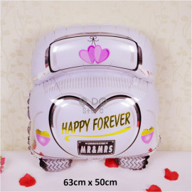 image of 【READY STOCK】Wedding Car Foil Balloon