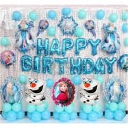 image of 【READY STOCK】Frozen Theme Birthday Party Decoration Balloon Set