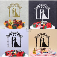 image of 【READY STOCK】DIY Wedding Celebration Cake Topper / Bouquet Topper / Cake Stand