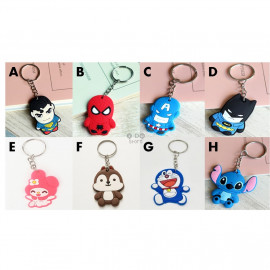 image of 【READY STOCK】Cute Cartoon PVC Keychain PARTY GIFT