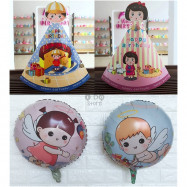 image of 【READY STOCK】Baby Girl / Baby Boy /Baby Shower Birthday Party Hat / Foil Balloon