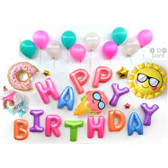 image of 【READY STOCK】Colorful Summer Birthday Party Balloon Set