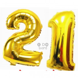 image of 【READY STOCK】32 inch Number 21 Foil Balloon Set