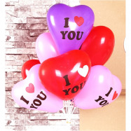 image of 【READY STOCK】12 inches Printed I LOVE YOU Love/Heart Shape Latex Balloon