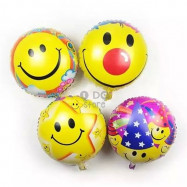 image of 【READY STOCK】Cute Smiling Face Foil Balloon (4pcs)