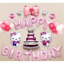 image of 【READY STOCK】Hello Kitty Baby Girl Birthday Party Balloon Set