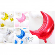image of 【READY STOCK】Huge Moon Decoration Wedding/Birthday Party Foil Balloon