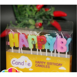 image of 【READY STOCK】Colourful Happy Birthday Cake Candle