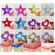 image of 【READY STOCK】Balloon Decoration Laser Sequins & Tinsel Set