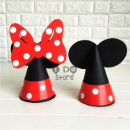 image of 【READY STOCK】Cute Mickey & Minnie DIY Party Hat