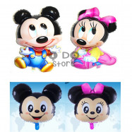 image of 【READY STOCK】Big Baby Mickey & Minnie Foil Balloon