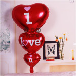 【READY STOCK】Heart String Foil Balloon ( I LOVE YOU )