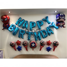 image of 【READY STOCK】Captain America Birthday Party Balloon Set