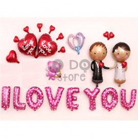image of 【READY STOCK】Bride and Groom Wedding Balloon Set ( Dolphin )