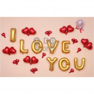 image of 【READY STOCK】Cupid I LOVE YOU Propose Balloon Set ( GOLD )