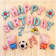 image of 【READY STOCK】Peppa Pig Birthday Party Balloon Set