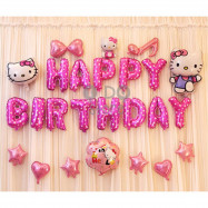 image of 【READY STOCK】Hello Kitty Birthday Party Balloon Set