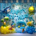 【READY STOCK】OCEAN / UNDER THE SEA Theme Birthday Party Decoration Balloon Set