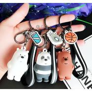image of 【READY STOCK】We Bare Bears Cute Cartoon Keychain (Ice Bear/Panda/Grizzly)