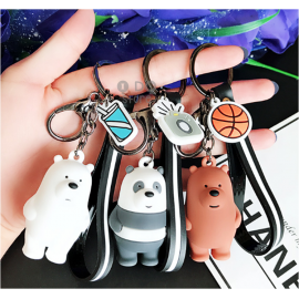 image of 【READY STOCK】We Bare Bears Cute Cartoon Keychain (Ice Bear/Panda/Grizzly)