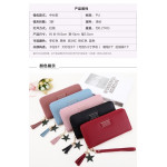 C29 Forever Young Simple Stylish Zip Lady Long Purse Ready Stock