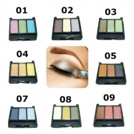 image of Wholesale Price Longlasting 3 Colors Palette Eyeshadow Ready Stock
