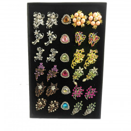 image of Wholesale Mix Design Brooch Bahu [ Match Design & Match Color ] 30pcs with Box
