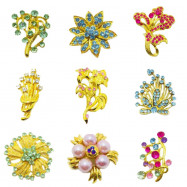 image of 50pcs - 50biji Brooch Bahu Match Color in Pair Best Quality Wholesale Price