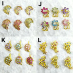 50pcs - 50biji Brooch Bahu Match Color in Pair Best Quality Wholesale Price