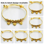24k Gelang Tangan Emas Korea Adult & Kids Adjustable Bangle Local Stock