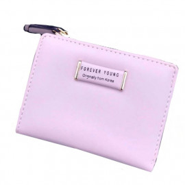 image of New Forever Young H518-4 Short Lady Purse with Zip & Card Holders Ready Stock