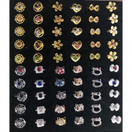 image of 50pcs Single Diamond Mix 5 Designs Baby Brooch Without Box Ready Stock