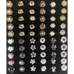 50pcs Single Diamond Mix 5 Designs Baby Brooch Without Box Ready Stock