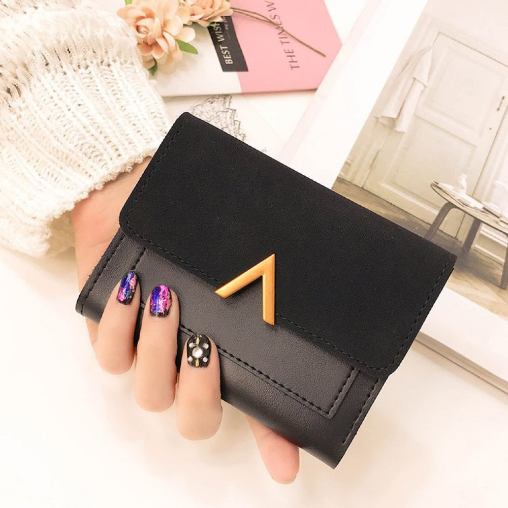 New 'V' Korean Stylish Quality Lady Short Purse with Card Holders Ready Stock