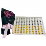 Mix 10 Design 100pcs Baby Brooch Single Diamond Ready Stock With Box
