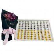 image of Mix 10 Design 100pcs Baby Brooch Single Diamond Ready Stock With Box