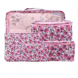 image of Wholesale Price Hello Kitty Travel Organizer Set of 6pcs Ready Stock