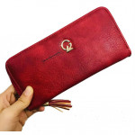 'GZ' New Long Lady Zip Purse With Card Holder Ready Stock